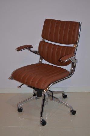 Cognac Leren Bureaustoel.Caprinjo Design Meubel Outlet